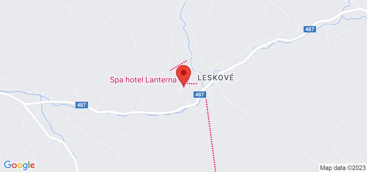 Mapa Hotel Lanterna**** Velké Karlovice