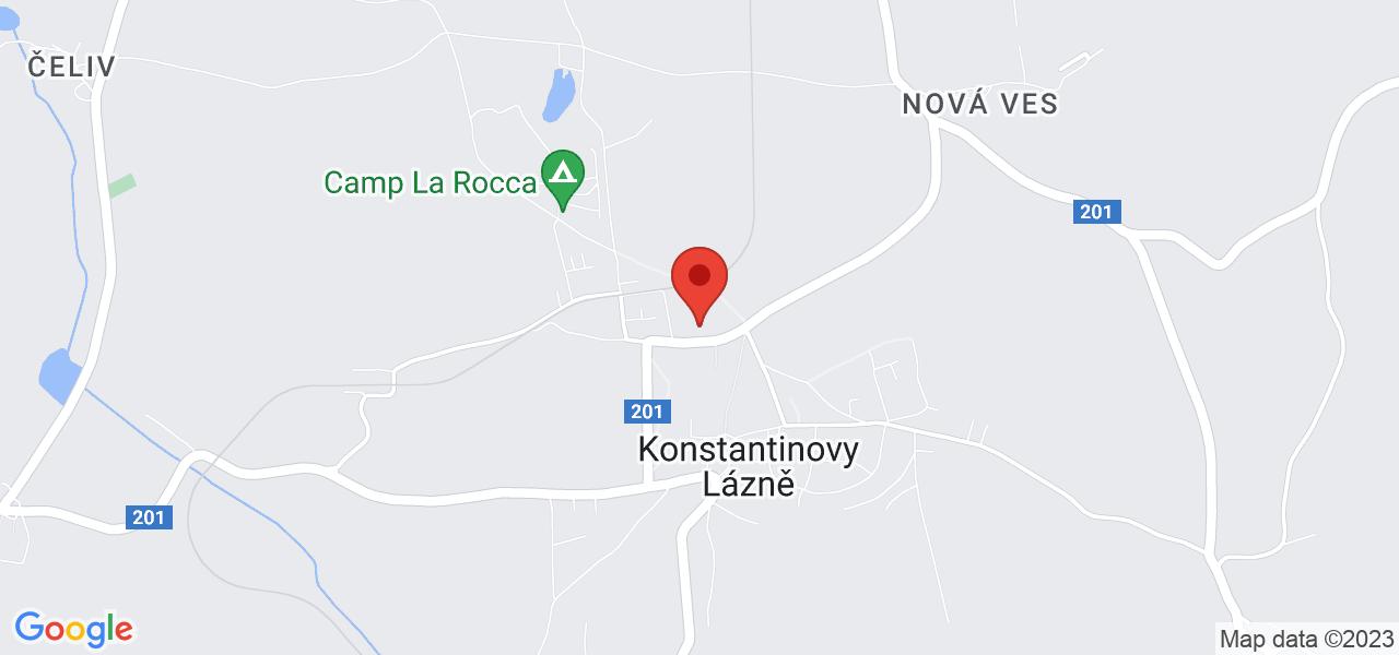 Mapa Penzión Palacký*** Konstantinovy Lázně