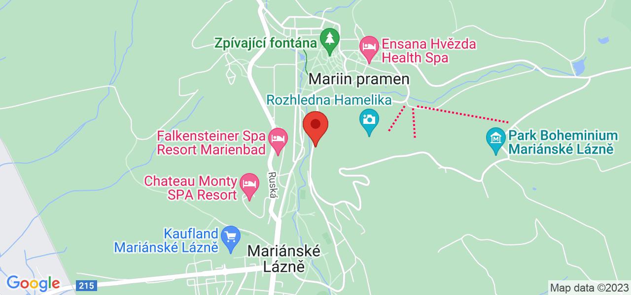 Mapa Vltava Ensana Health Spa Hotel*** Mariánske Lázně