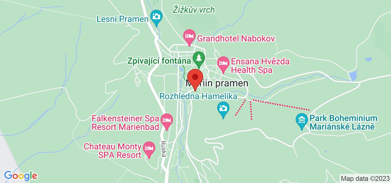 Mapa Nové Lázně Ensana Health Spa Hotel***** Marianske Lazne