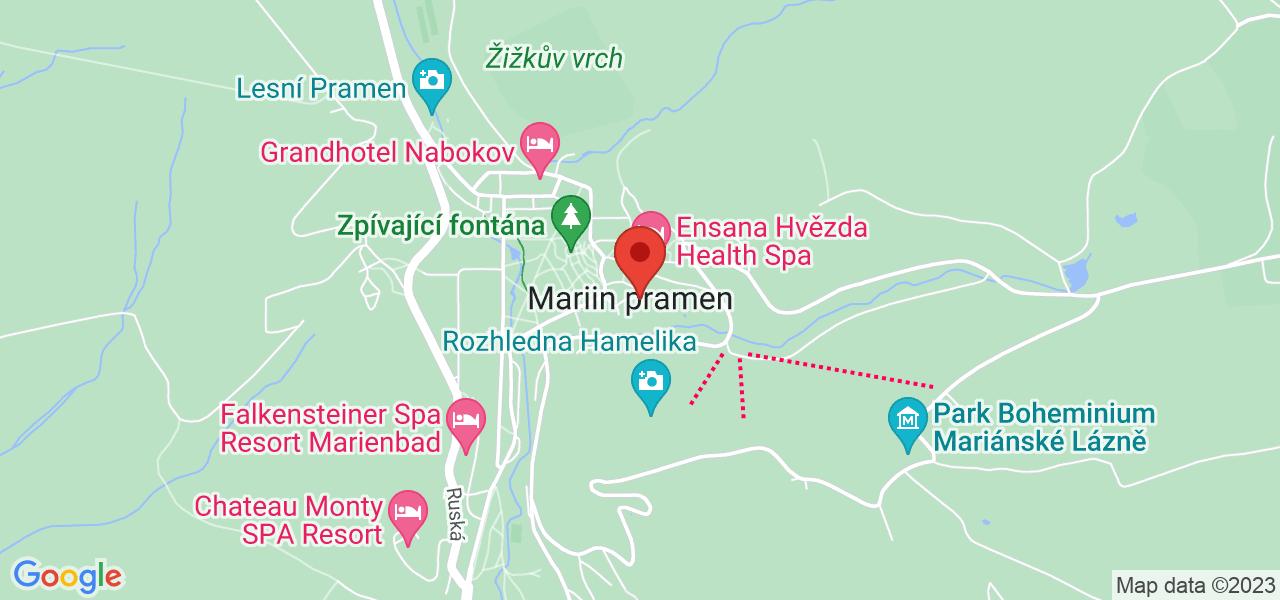 Mapa Maria Ensana Health Spa Hotel**** Marianske Lazne