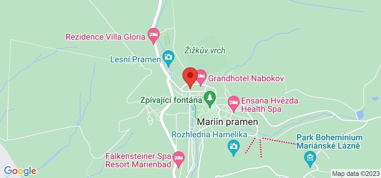 Mapa Pacifik Ensana Health Spa Hotel**** Mariánske Lázně