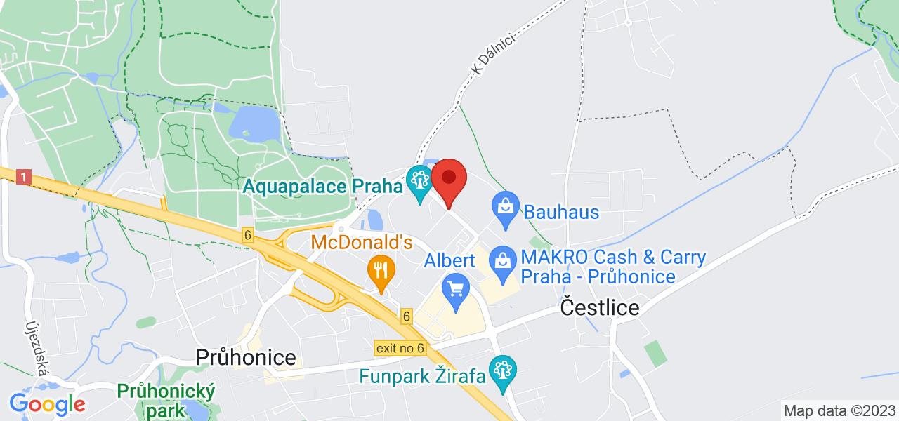 Mapa Wellness Hotel Aquapalace**** Praha