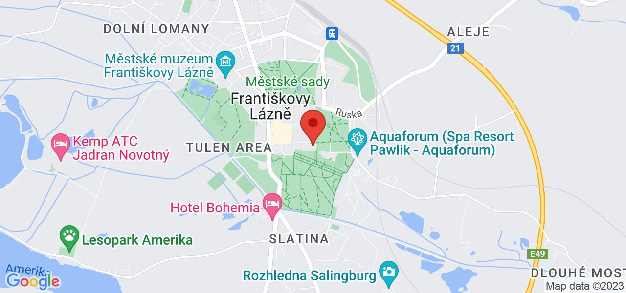 Mapa Liečebný dom Belvedere*** Františkovy Lázně