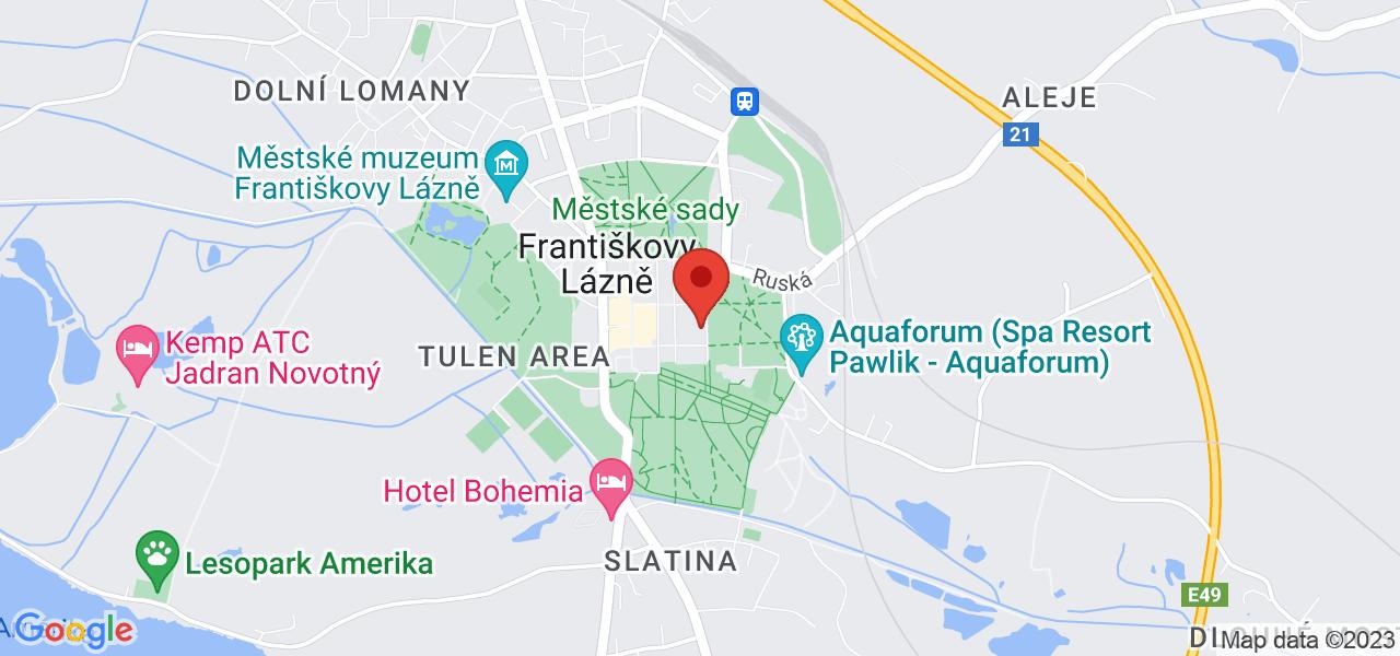 Mapa Kúpeľný Hotel Dr. Adler*** Františkovy Lázně