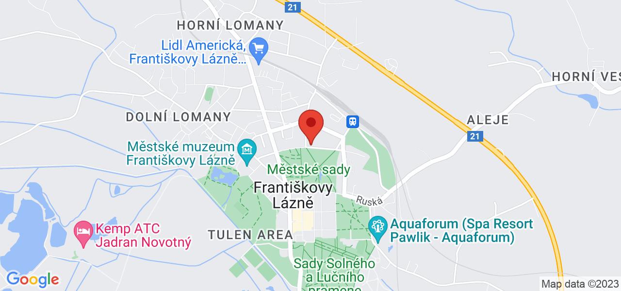 Mapa Kúpeľný Hotel Metropol*** Františkovy Lázně