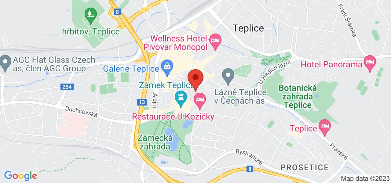 Mapa Dom uzdrowiskowy Beethoven*** Teplice